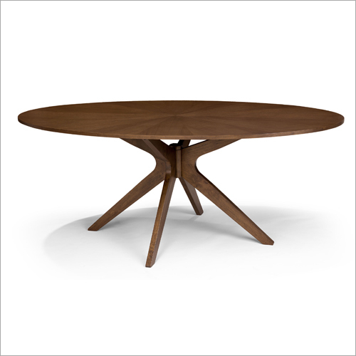 Oval Shaped Dining Wooden Table