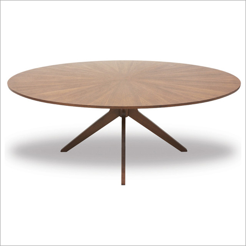 Modern Oval Shaped Dining Wooden Table
