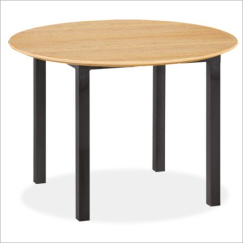 Round Shaped Dining Wooden Table