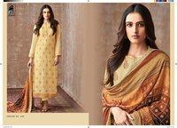 Printed Silk Salwar Suits
