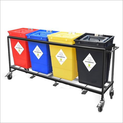 Bio Medical Waste Trolley
