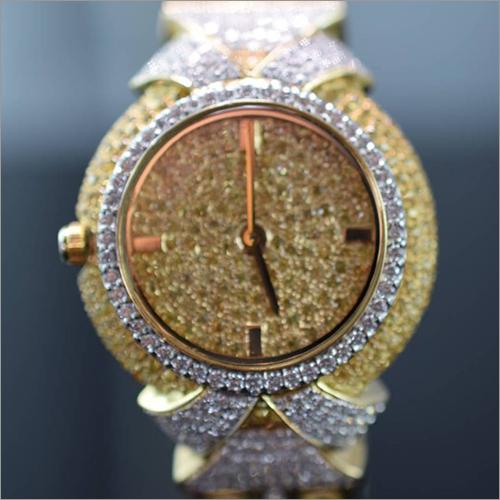 Ladies Fancy Diamond Wrist Watch