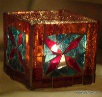 Color Decorative Glass Mosaic Goblet Votive