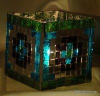 Mercury Blue Glass Candle Holders Beautiful Holder