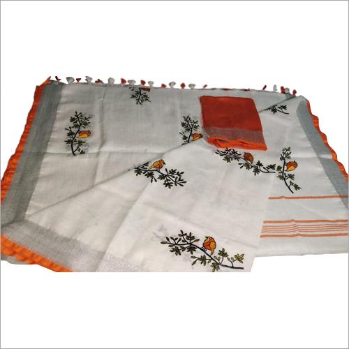 Ladies emboridered saree