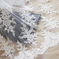 Net Embroidery Fabric  / Embroidered Net Fabric