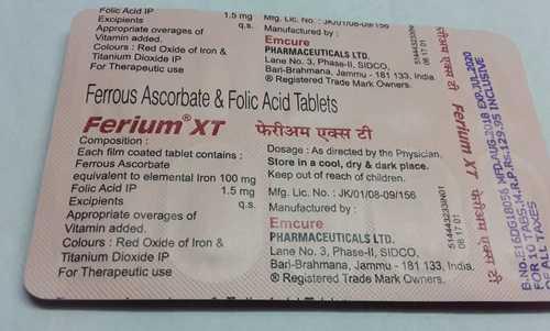 ferrous ascorbate folic acide tablets
