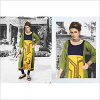 Ladies Straight Printed Kurti