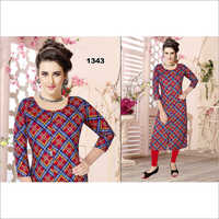 Ladies Digital Print Trendy Kurti