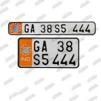 bike number plate