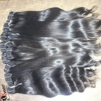 100% Virgin Indian Hair Unprocessed Raw Indian Temple Hair Extension Human Hair