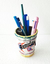 Handicraft Clay Pen Holder