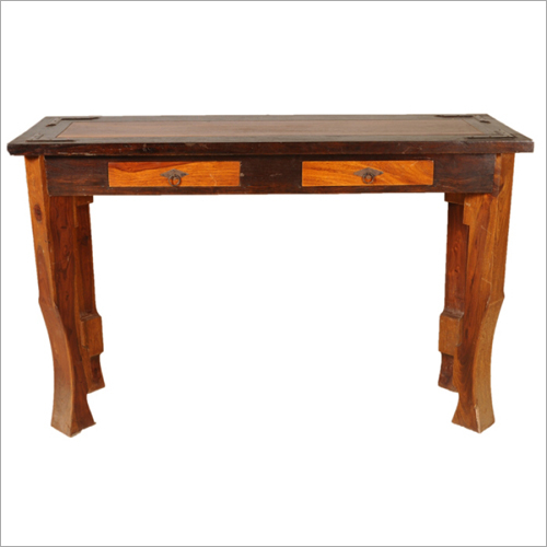 2 Drawer Wooden Console Table