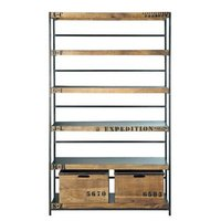Industrial 2 Drawer Bookshelves