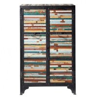 Industrial Almirah Small with Reclaimed Wood