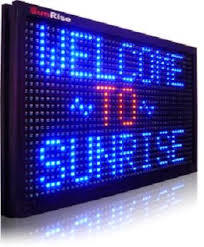 Electronic display sign
