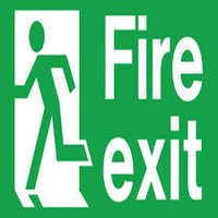 fire exit signs boards
