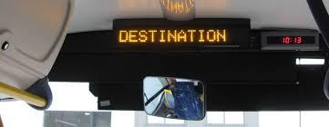 Led bus destination display boards