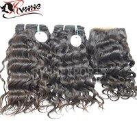 Wholesale 100% Unprocessed Curly Extensions Raw Indian Temple Human Hair