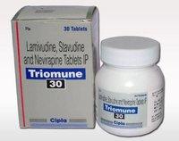 Triomune Lamivudine 150mg Stavudine 40mg Nevirapine 200mg Tablet
