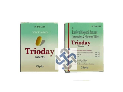 Trioday Lamivudine 300mg Tenofovir disoproxil fumarate 300mg Efavirenz 600mg Tablet
