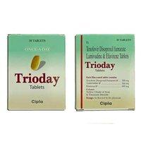 Trioday Lamivudine 300mg Tenofovir disoproxil fumarate 300mg Efavirenz 600mg Tablet
