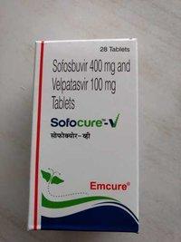Sofocure V Sofosbuvir 400mg Velpatasvir 100mg Tablet