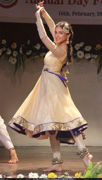 Sky Blue Kathak Dance Costume