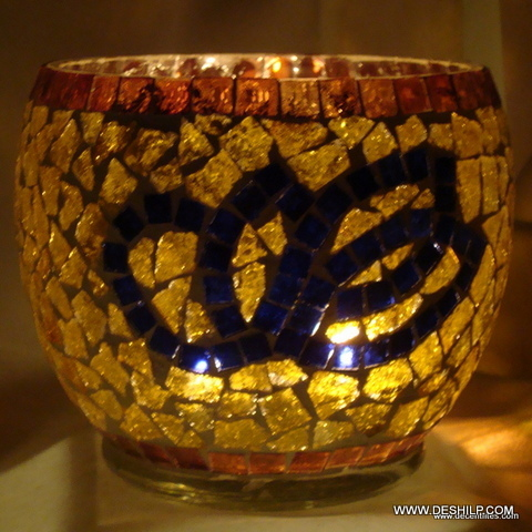 Color Decorative Glass Goblet Votive Candle Holders Metal Pillar Candle Holders with Clear Glass