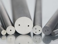 Sintered Tungsten Carbide Rods with Two Helical Coolant Holes