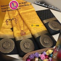 New Arrival Pure Matka Tusser Silk Handloom Saree