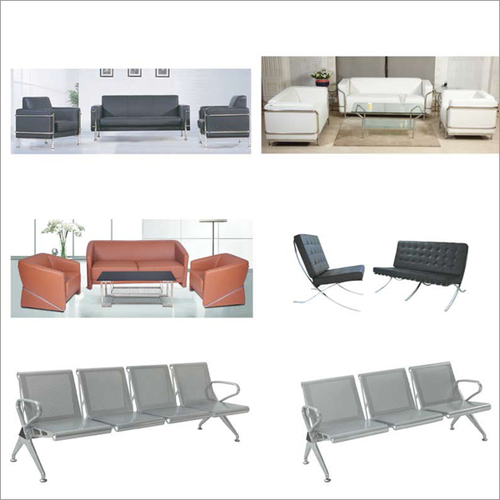 Leather Office Sofa Set