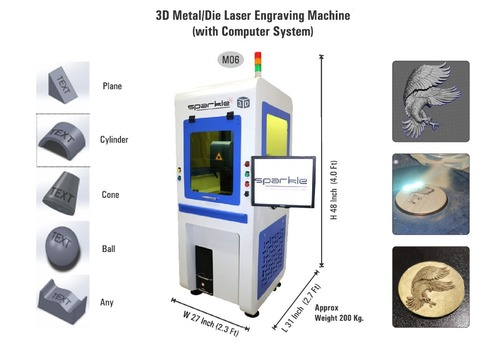 3D Metal Die Laser Engraving Machine