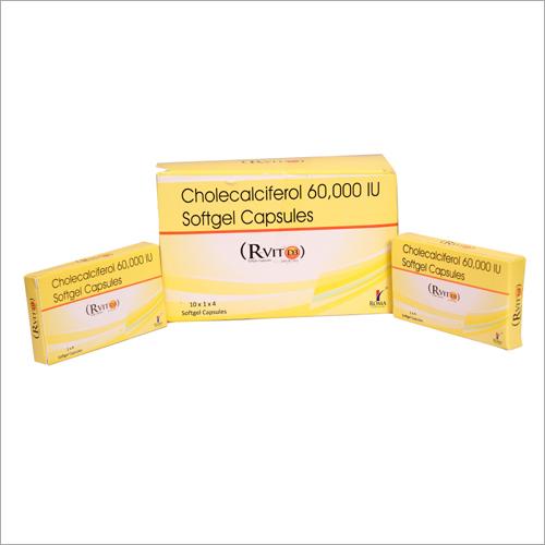 60000 IU Cholecalciferol Softgel Capsules