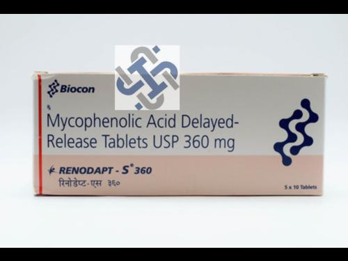 Renodapt S Mycophenolate Mofetil 360mg Tablet