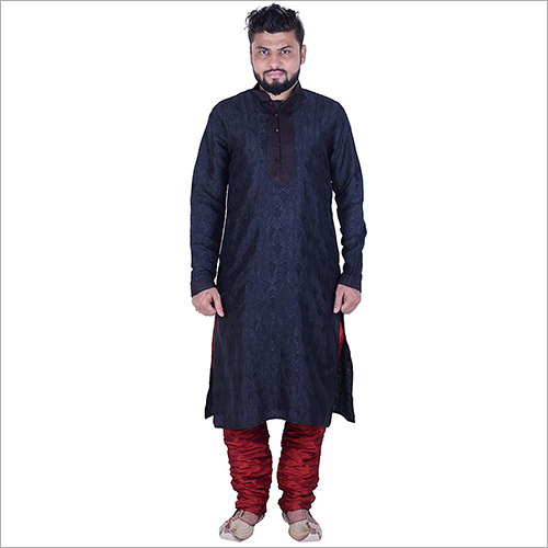 Black Red Kurta Pyjama