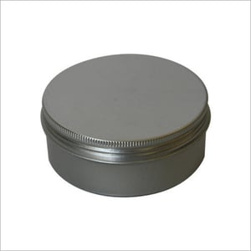 Silver Aluminum Container Lid