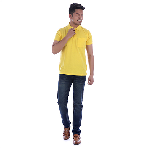 Collar Yellow T-Shirt