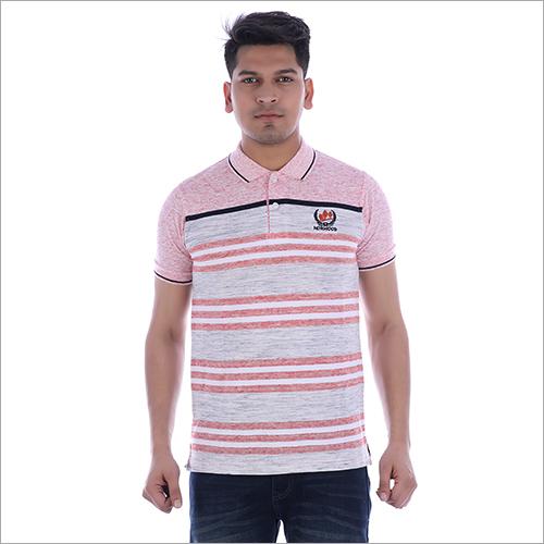 Mens Half Sleeve Collar T-Shirt
