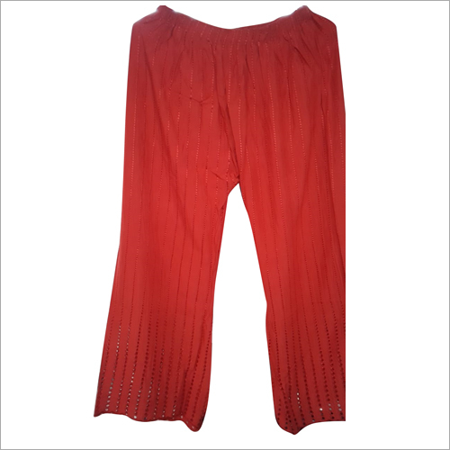Ladies Red Capri