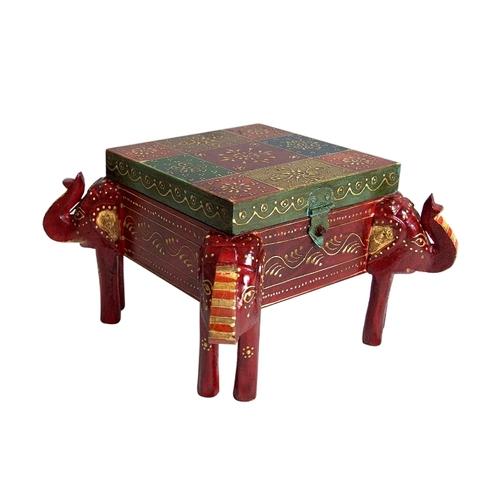 Antique Indian Handmade Home Decor Wooden Box