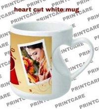 heart cut mug