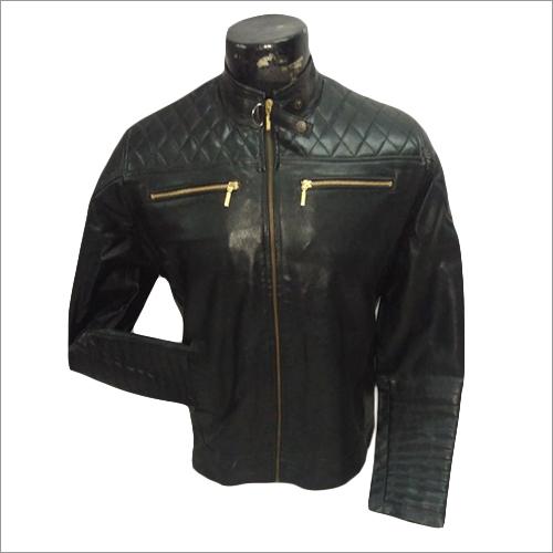 Plain Mens Leather Jacket