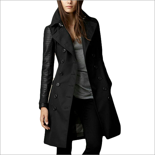 Ladies Long Leather Jacket