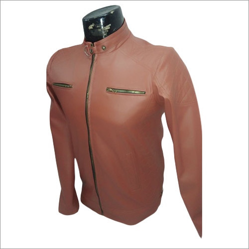 Mens Light Brown Leather Jacket