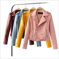 Ladies Fancy Leather Jacket