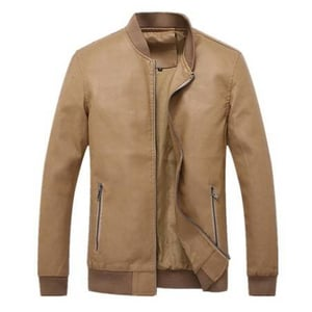 Mens Full Sleeves Leather  Jacket