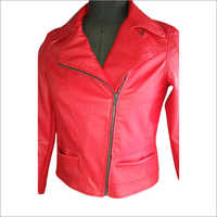 Ladies Full Sleeve Leather Jacket