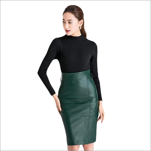 Ladies Pure Leather Skirt