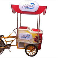 Steel Printed Ice cream Cart